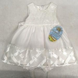 NWT New American Princess Baptism dress white 9M